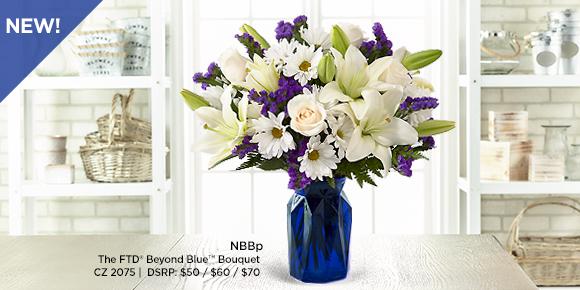 New FTD Beyond Blue Bouquet